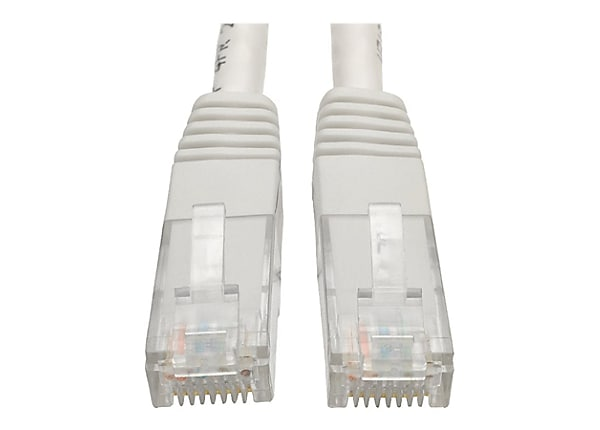 Tripp Lite 5ft Cat6 Gigabit Molded Patch Cable RJ45 M/M 550MHz 24 AWG White
