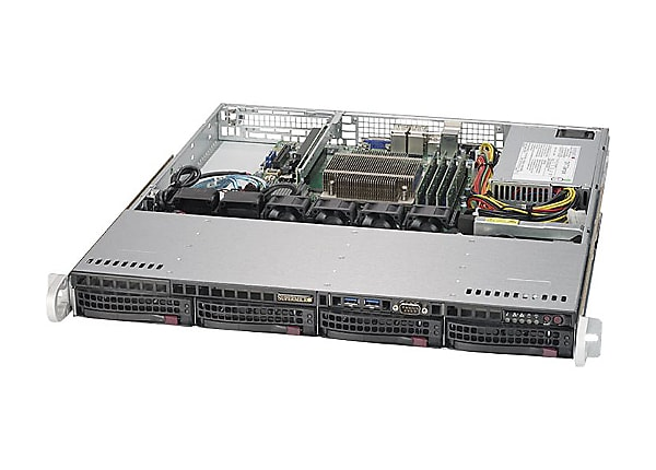 Supermicro SuperServer 5019S-M - rack-mountable - no CPU - 0 GB - no HDD