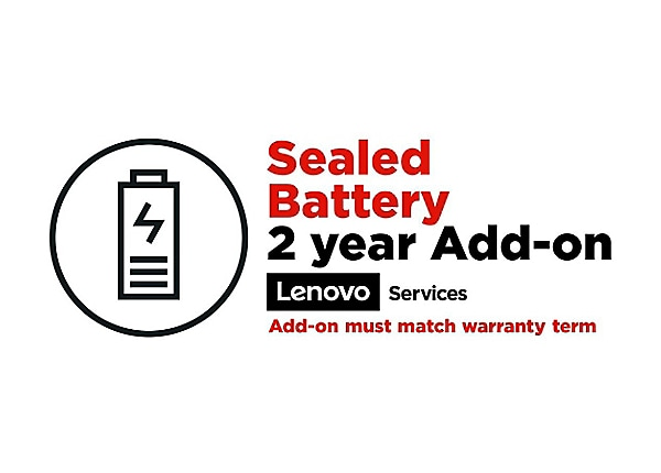 Lenovo Sealed Battery Add On - battery replacement - 2 years