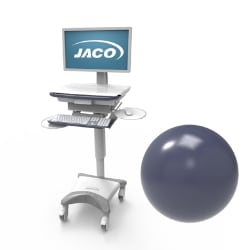 Jaco RAL5013 Antimicrobial Powder Coat Cart - Cobalt Blue