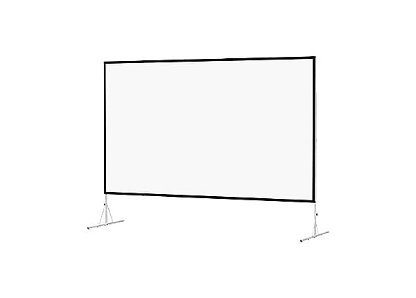 Da-Lite Fast-Fold Deluxe Video Format - projection screen with legs - 120 i