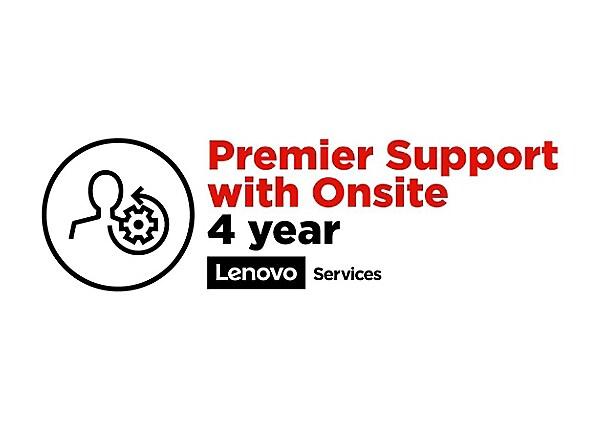 Lenovo On-Site + Premier Support - extended service agreement - 4 years - o