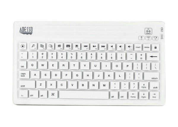 Adesso WKB-2000BW - keyboard and folio case - US
