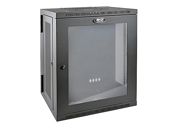 Tripp Lite 15U Wall Mount Rack Enclosure Cabinet w Hinged Acrylic Window