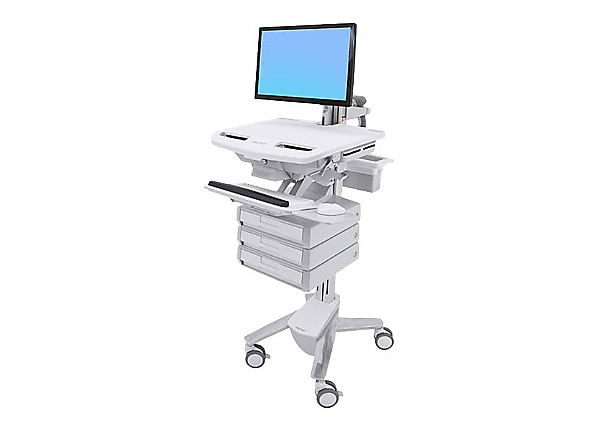 Ergotron StyleView Cart with LCD Arm, 3 Drawers - cart (open architecture)