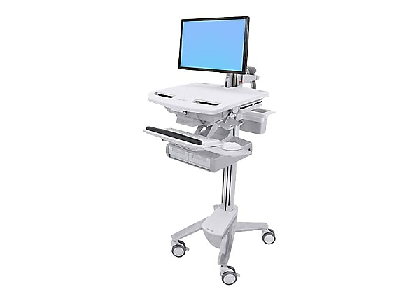 Ergotron StyleView Cart with LCD Arm, 2 Drawers - cart