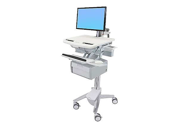 Ergotron StyleView Cart with LCD Arm, 1 Tall Drawer - cart