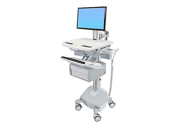 Ergotron StyleView Cart with LCD Pivot, LiFe Powered, 1 Tall Drawer - cart