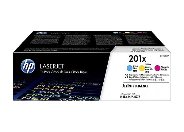 HP 201X - 3-pack - High Yield - yellow, cyan, magenta - original - LaserJet