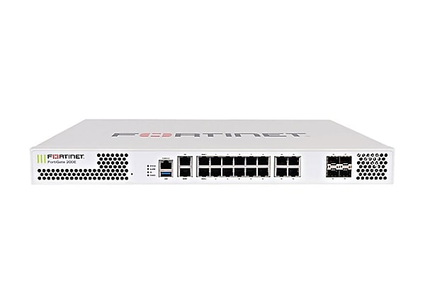 Fortinet FortiGate 200E - UTM Bundle - security appliance - with 5 years Fo