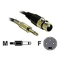 C2G Pro-Audio 1.5ft Pro-Audio XLR Female to 1/4in Male Cable - audio cable