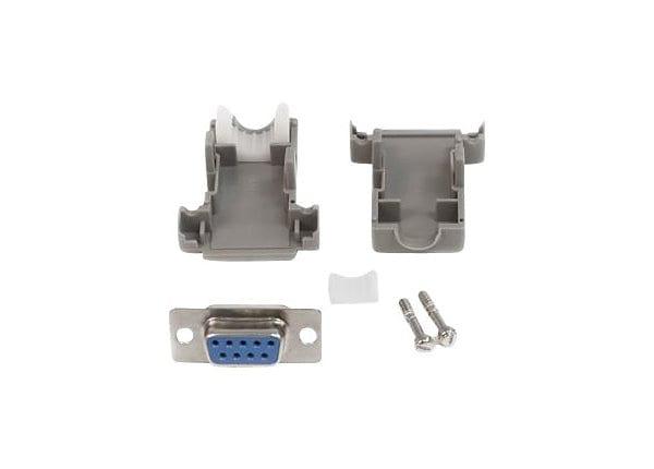 StarTech.com Assembled DB9 (F) Solder D-SUB Connector w/ Plastic Backshell