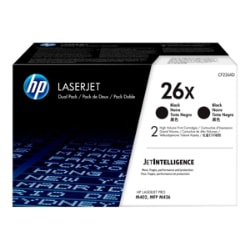 HP 26X - 2-pack - High Yield - black - original - LaserJet - toner cartridg