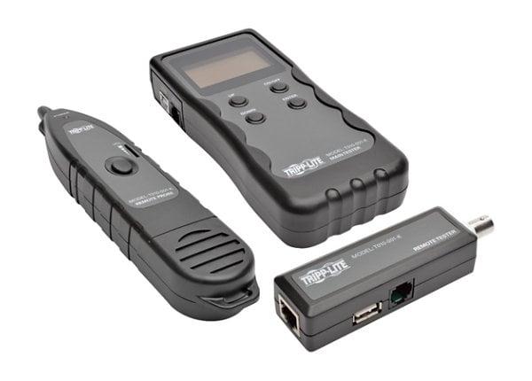 Tripp Lite Cable Tester Wire Tracker Lngth Fault Location RJ45 RJ11 BNC USB