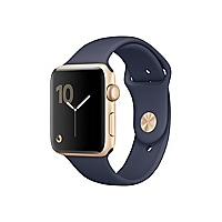 Apple Watch Series 2 - gold aluminum - smart watch with sport band midnight
