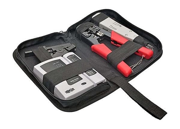 Tripp Lite 4 Pc Network Installer Tool Kit w/ Carrying Case RJ11 RJ12 RJ45