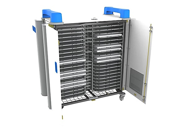 "LapCabby UniCabby 40-Device (up to 14"") Mobile AC Horizontal Charging Cart"
