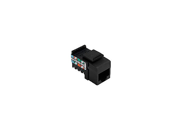 Leviton QuickPort network connector - black