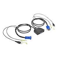 Tripp Lite 2-Port USB/VGA Cable KVM Switch w/Audio & USB Peripheral Sharing