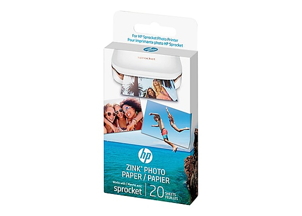 HP ZINK Sticky-Backed Photo Paper - photo paper - 20 sheet(s) - 50 x 76 mm