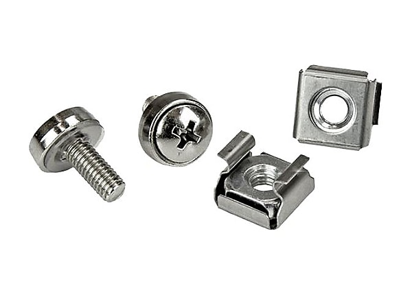 StarTech.com M5 Rack Screws and M5 Nuts - M5 Cage Nuts and Screws - 20 Pack