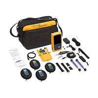Fluke OptiFiber Pro Quad OTDR with inspection kit and WiFi Adapter - networ