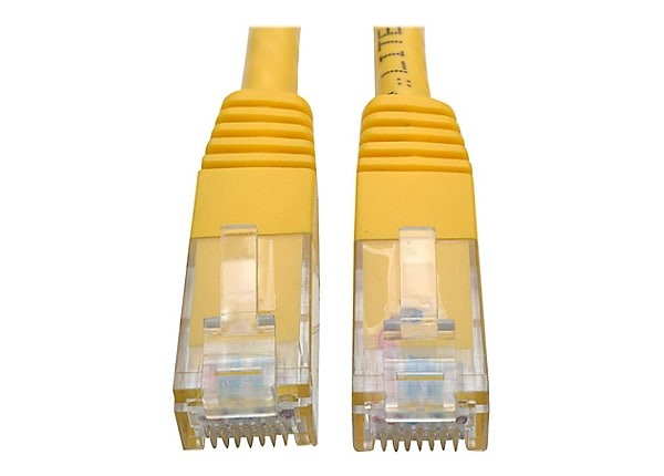 Tripp Lite 5ft Cat6 Gigabit Molded Patch Cable RJ45 M/M 550MHz 24AWG Yellow