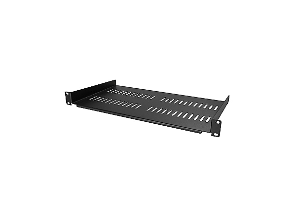 StarTech.com Vented 1U Rack Shelf - 10in Deep - 1U Rack Mount Shelf
