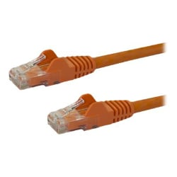 StarTech.com 6 ft Orange Cat6 / Cat 6 Snagless Ethernet Patch Cable 6ft
