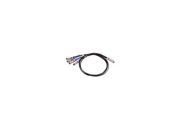 Mellanox LinkX Passive Copper Hybrid ETH - network cable - 1 m - black