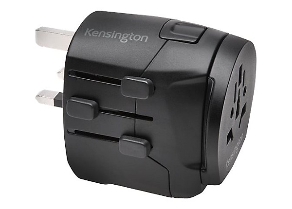Kensington International Travel Adapter - Grounded (3-Prong) with Dual USB