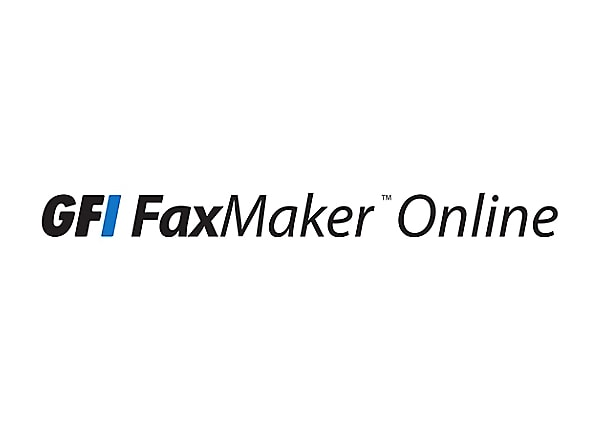 GFI FAXmaker Online fax services - subscription license (1 year) - 12000 fa