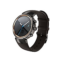 ASUS ZenWatch 3 WI503Q - gunmetal - smart watch with band dark brown - 4 GB