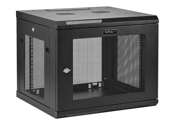 StarTech.com 9U Wall-Mount Server Rack Cabinet - Up to 20.8 in. Deep - rack