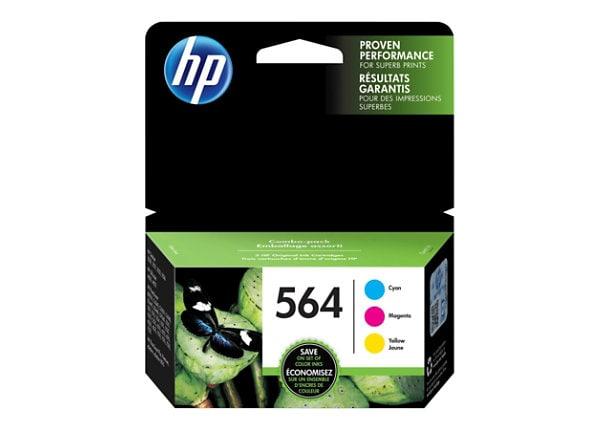 HP 564 Combo Pack - 3-pack - yellow, cyan, magenta - original - ink cartrid