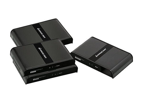 IOGEAR GPLHDPROK3 HDMI Over Powerline PRO Kit with 2 Additional Receivers -