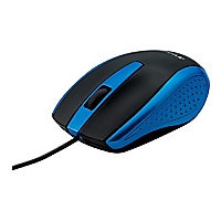 Verbatim Corded Notebook Optical Mouse - mouse - USB - blue