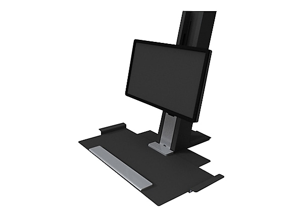 Humanscale QuickStand Eco - Light Duty with Small Keyboard Platform - mount