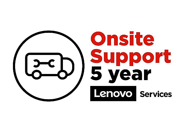Lenovo On-Site Repair - extended service agreement - 5 years - on-site