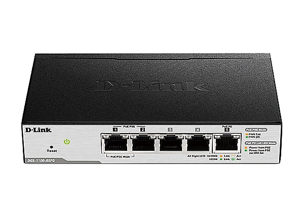 D-Link Smart Managed Switch DGS-1100-05PD - switch - 5 ports - smart