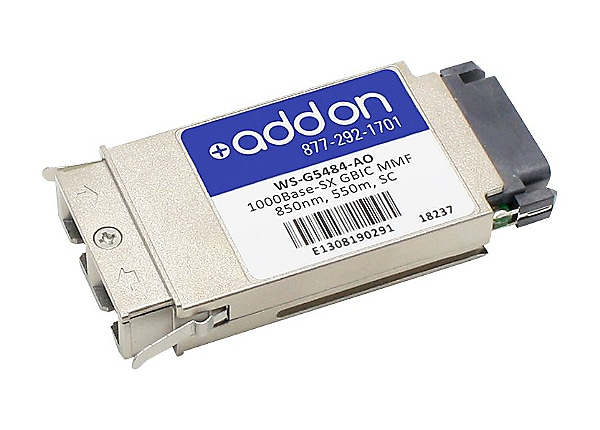 AddOn Cisco WS-G5484 Compatible GBIC Transceiver - GBIC transceiver module