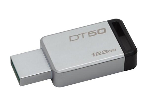 Kingston DataTraveler 50 - USB flash drive - 128 GB
