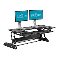 VARIDESK Cube Plus 48 - Sit Stand Desk Solution  - Black