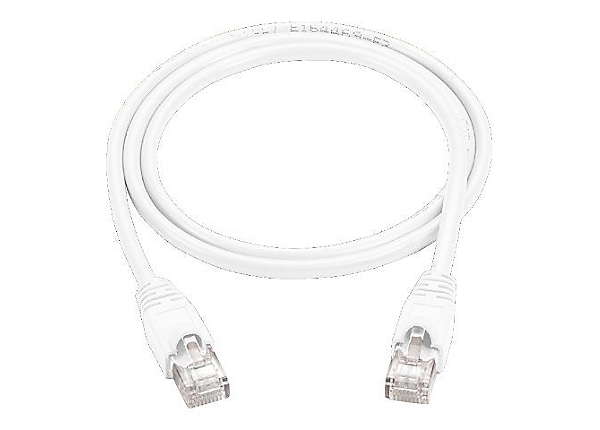 Black Box 10ft Cat5 Cat5e Ethernet Patch Cable White PVC Snagless 5-Pack