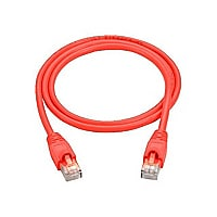 Black Box 2ft Cat6 UTP Ethernet Patch Cable Red PVC Snagless 2' 10-Pack