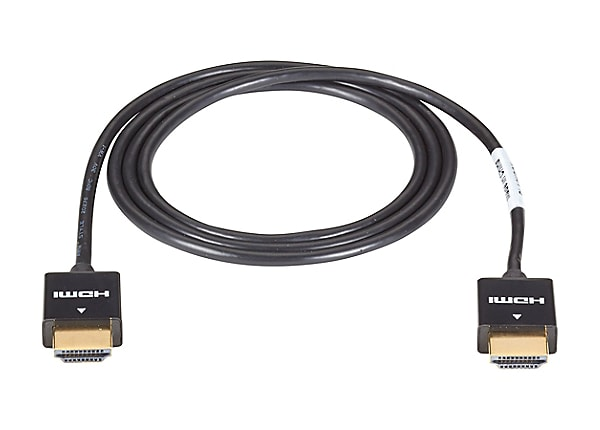 Black Box 2 Meter 6ft Ultra Slim Line HDMI Cable, Male/Male, 1080P, 4K, 3D