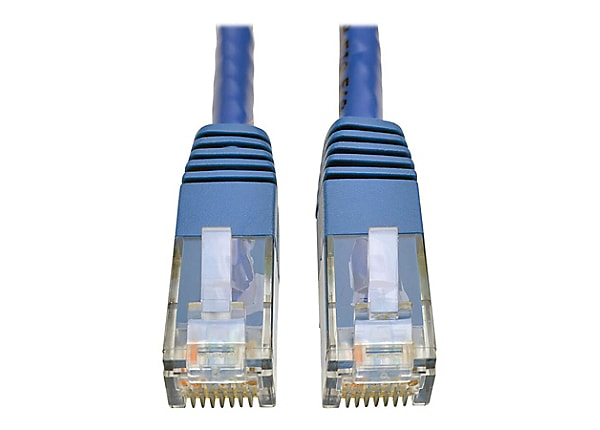 Tripp Lite Cat6 Cat5e Gigabit Molded Patch Cable RJ45 M/M 550MHz Blue 35ft