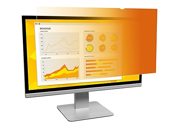 "3M Gold Privacy Filter for 24"" Widescreen Monitor - display privacy filter"
