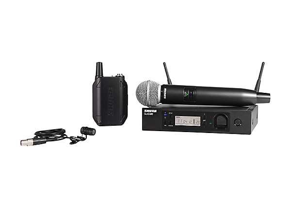 Shure GLXD124R/85 Handheld and Lavalier Combo Wireless System - wireless mi