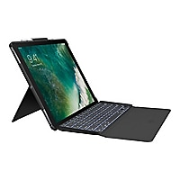 Logitech Slim Combo - keyboard and folio case - black - for Apple 12.9-inch